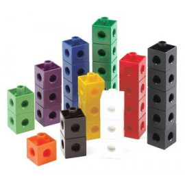 Singapore Blocks Connect-A-Cube 2cm Cubes 100pc Container