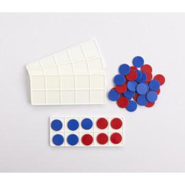Ten Frames Set (4 boards 40 discs)