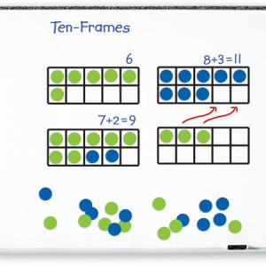 Giant Magnetic Ten-Frame Set