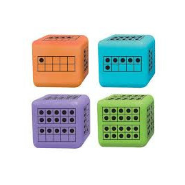 Ten Frame Dice 5cm 4pcs (Indiv. set)