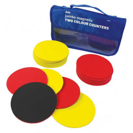 Demo Magnetic Counters 100mm Two Colour 20pc