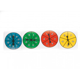 Spinner Assorted Numbers Set of 4
