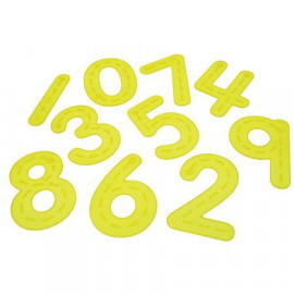 Silishapes Trace Numbers (Yellow)
